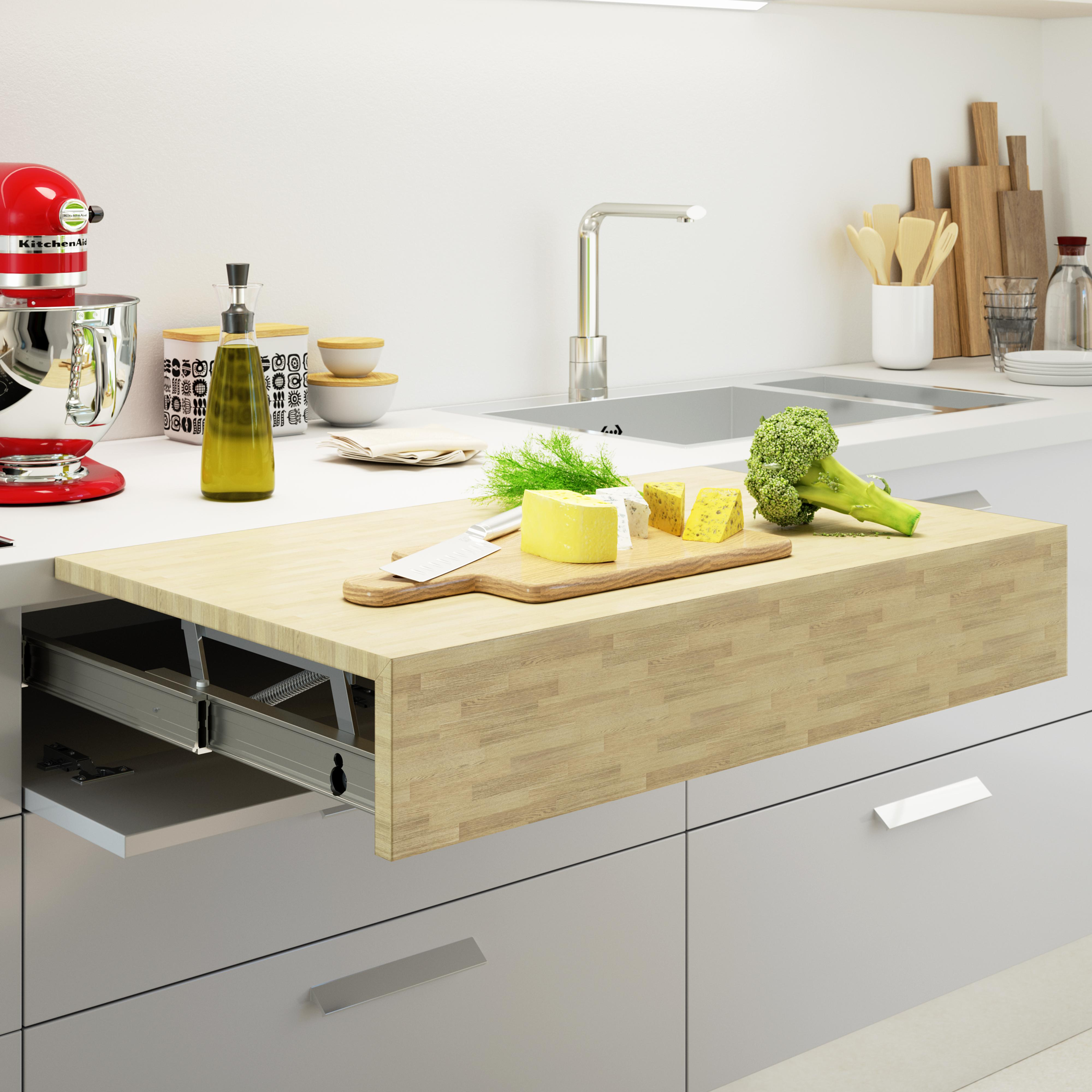 Oplà Top extendable and lift up table for the kitchen, stainless ...