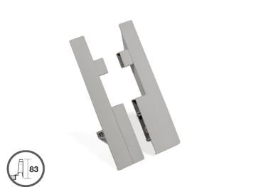 Set of frontal fittings for 204 mm inner drawer