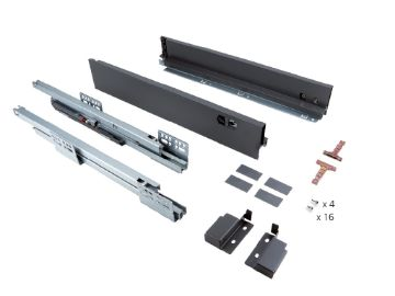 Slim 80 mm exterior drawer with soft close