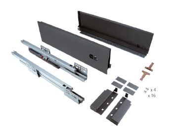 Slim 127 mm exterior drawer with soft close