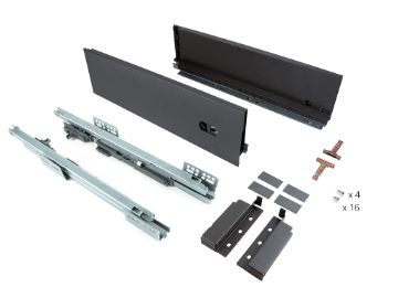 Slim 127 mm exterior drawer with push to open