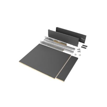Emuca Vertex drawer kit for kitchen or bathroom, 93 mm height with included boards.