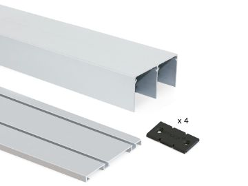 Track set of Placard of groove with clip systems for sliding door