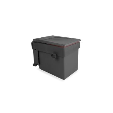 Recycle recycling bin for fastening to door with container 15 litres