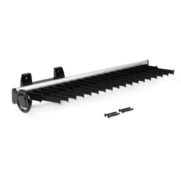 Emuca Keeper extractable lateral tie rack for wardrobe